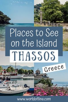 Thassos is also known as the Emerald of The Aegean. With its lush greenery and mountainscape it's very different than other Greek islands. Thassos is still underrated but really worth a visit! #thassos #greece #europe | travel to Thassos | Greece Travel Europe Travel Tips, Travel Destinations, Places In Europe, European Vacation, Sea World, Greece Travel, Beautiful Islands, Greek Islands, Travel Around The World