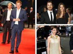 """El Príncipe Harry robó el show el día de ayer en la premier londinense de """"El caballero de la noche"""" en el BFI Imax de Waterloo.   Harry llegó vistiendo un traje azul marino captando la atención de la prensa, que enloqueció con su presencia, pasando por alto a Anne Hathaway, quien lucía espectacular en un vestido dorado de Gucci y al mismísimo Batman.   El toque de glamour fue provisto por la guapísima Hathaway y su colega Marion Cotillard, quien lució un increíble vestido de Dior Alta…"""