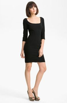 Jay Godfrey 'Tao' Stretch Crepe Dress (Nordstrom Exclusive)   Nordstrom-with different hair and shoes