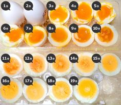 A boiled egg that was cut in half, was ordered boiled time Chef Recipes, Dessert Recipes, Cooking Recipes, Food N, Food And Drink, Perfect Boiled Egg, Cute Baking, Outdoor Food, How To Cook Eggs