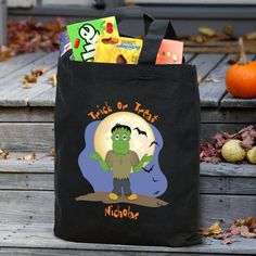 Halloween Icon Personalized Trick or Treat Bag