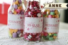 Sweet Candy Bottles: Tutorial & Free Printable