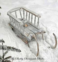 Beautiful old winter sled....love, love, love