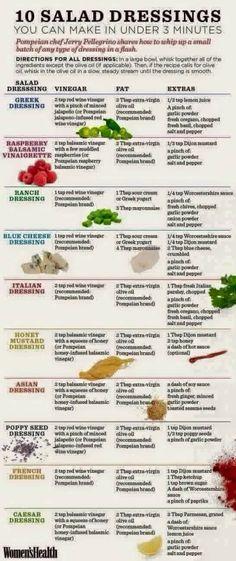 #Health Salad Dressings  I mix olive oil and apple cider vinegar for a quick Zoe's taste