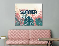Discover «Tropical Summer», Limited Edition Acrylic Glass Print by DesigndN - From 95€ - Curioos