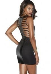 CAGE BACK BODYCON DRESS