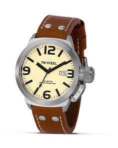 TW Steel Canteen Stainless Steel Watch, 45mm