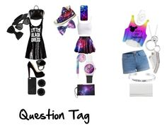 """110 Question Tag (clothes are numbers. Its pretty bad)"" by anapajovic23x ❤ liked on Polyvore featuring Moschino, Christian Louboutin, Givenchy, BaubleBar, Linda Farrow, Yves Saint Laurent, Anne Klein, Sharra Pagano, Converse and Uncommon"