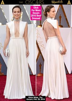 Work it, Olivia Wilde! The gorgeous actress made a big statement with her Oscars dress. She showed off some extreme cleavage in a plunging white gown.