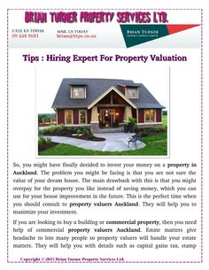 Are you searching valuers and property advisors for residential, industrial and commercial property. Brian Turner Property Services provides valuation and market information at reasonable rates. View some info here