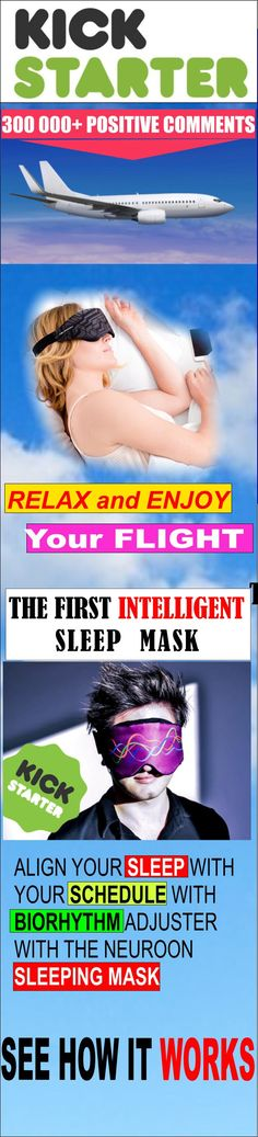 One of the MOST #CUTE and LONG-AWAITED PROJECTS!>THE FIRST #SMART #SLEEP #EYE MASK>>TAKE CONTROL OF YOUR SLEEP>>#RELAX and enjoy your #FLIGHT! ADJUST your BODY #CLOCK to the #TIMEZONE of your destination ALIGN YOUR SLEEP WITH YOUR SCHEDULE WITH #BIORHYTHM ADJUSTER>>RUNNING ON EMPTY? TRY A PERSONAL PAUSE! >>HOW TO SLEEP TIGHT ON A #HOT #SUMMER NIGHT WAKE UP #SMARTER WITH THE NEUROON #SUNRISE! CHECK #HOW NEUROON SLEEPIND MASK #WORKS