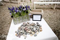8. Wishing Stones Have each guest hold a stone during the wedding vows and reflect on their own well wishes for you as a couple. After the ceremony, have someone collect the stones. Display the stones in your home as a lovely remembrance of your special day. 8 Ways to Involve Your Guests in Your Wedding Ceremony