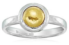 GURHAN 'Amulet' Sterling Silver Small Round Vermeil Amulet Ring, Size 7 ** Want to know more, click on the image. #NiceJewelry