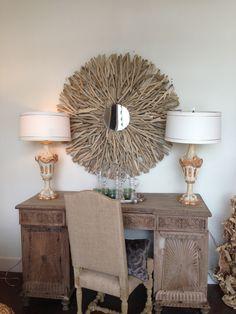 Fabulous driftwood mirror!!