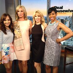 Loved having team #Ramonja stop by #newyorklivetv ! Great to chat all things #rhony with #sonjatmorgan & #ramonasinger!