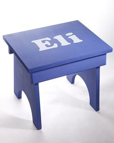 Stenciled Stool - Make this adorable stenciled stool to add color and height to any child's bedroom.