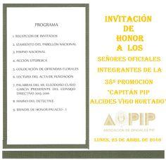 PROMOCION DE OFICIALES PIP: 48º ANIVERSARIO DE LA AOPIP