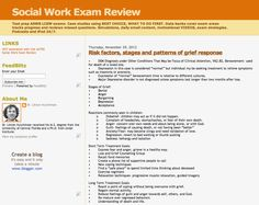 Social Work Exam Blog.  I havent looked at this yet but it looks promising