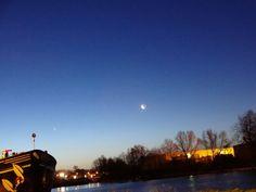 #sky #moon #ship