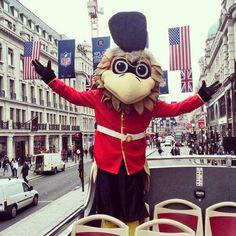 A tour around London with Freddie Falcon today. #UKFalcons #RiseUp