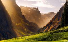 #Alpes, #SUIZA, #montañas, #bosque, #otoño