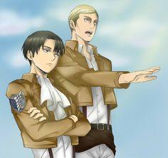 Levi and Erwin (Attack on Titan) by Hikari-Creation.deviantart.com on @deviantART