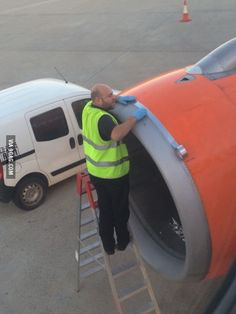 """""""Ladies and gentlemen, we will depart just as soon as our mechanic finishes taping our engine back together!"""""""