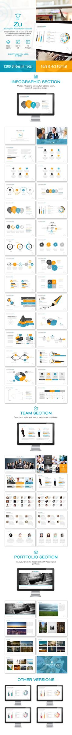Zu Powerpoint Template #design #slides Download: http://graphicriver.net/item/zu-powerpoint/12231839?ref=ksioks