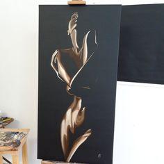 Gran óleo Pintura desnudez erótica Gran pared arte desnudo | Etsy Acrylic Painting Canvas, Canvas Art, Acrylic Art, Art Painting Tools, Woman Painting, Grand Art Mural, Black And White Painting, Portrait Art, Large Wall Art