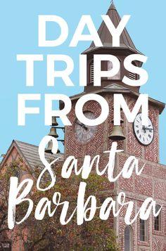 11 Amazing Day Trips from Santa Barbara : explore cute towns, beaches, wineries, camping & more #santabarbara #california wine tasting, hiking, channel islands, santa ynez valley, pismo beach, ojai, solvang