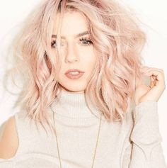 ombre hair color with rose gold | #pastel | blonde | pink