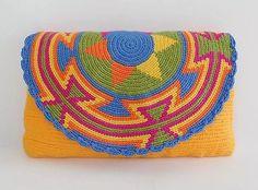 """Original"" Medium Wayuu Clutch Bag +""FREE"" Wayuu Bracelet ""FREE"" US Shipping +"