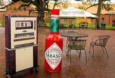 Art-o-Mat traveling the US. Here he is in Louisiana, at the Tabasco factory!