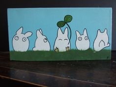 ChibiTotoro  Playing in the Field by lilkomakai on Etsy, $30.00