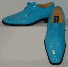 Mens Gorgeous Shiny Turquoise Blue Faux Croco Dress Shoes Roberto Chillini 6548 Men Dress, Dress Shoes, Turquoise Blue Color, Oxford Shoes, Lace Up, Brand New, Elegant, Leather, Style