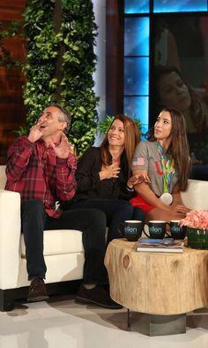 Aly Raisman's Parents Get a Silver-Medal-Worthy Fright on The Ellen DeGeneres Show