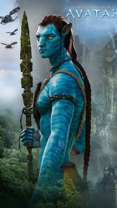 Can I just say I was more attracted to Avatar Jake than human Jake! Avatar Jake looks so much better, even though I don't think his second hairstyle suits him at all Avatar Tattoo, Best Action Movies, Great Movies, Avatar Foto, Avatar 2 Movie, Avatar James Cameron, Avatar Poster, Avatar Fan Art, Sam Worthington