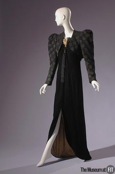 Ensemble Yves Saint Laurent, 1978 The Museum at FIT Note shoulder emphasis-we'll see more of that in the '80's!