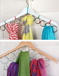 14 Life Hacks Every Girl Should Know | DIY Scarf Hanger | DIY Home Organization Ideas