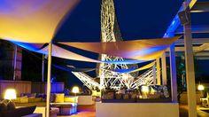 Great spot to be along the Mediterranean. - Hotel Arts Barcelona - Arola Terrace at Night.