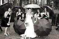 umbrellas at wedding