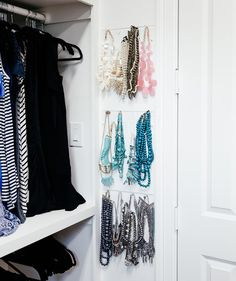 Put Your Jewelry On Display | With these strategies up your sleeve, your bedroom closet will feel surprisingly spacious.