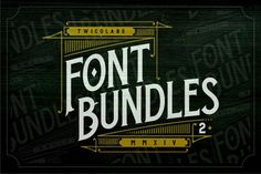 Font Bundles 2 by Twicolabs Fontdation on @creativemarket