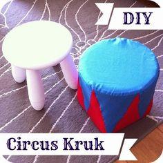 By MiekK: Circus Kruk DIY - van Ikea Krukje