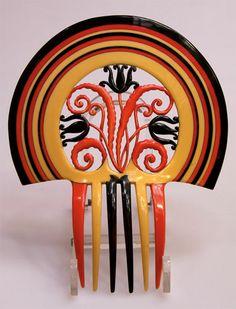 August Bonaz Art Deco vintage hair  comb.
