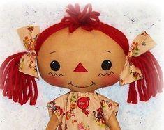 Primitive Doll pattern Girl or Boy Raggedy Ann and by OhSewDollin