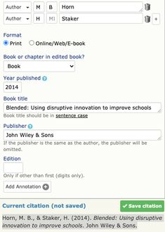 Use a book ISBN number to find the APA citation.