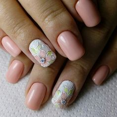 manicure gel nail art 2018 - style you 7 Cute Simple Nails, Cute Nails, Pretty Nails, Colorful Nail Designs, Cool Nail Designs, Gel Nail Art, Easy Nail Art, Acrylic Nails, Nail Polish