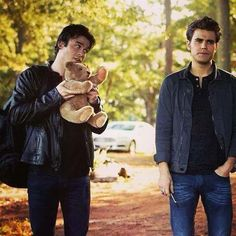 """Loved this scene. """"See Stefan...even the teddy bear knew!"""""""