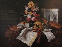 """Cornelis Norbertus Gijsbrechts  (ca 1630 - after 1683)  """"Vanitas Stillleben"""""""